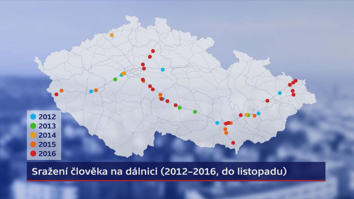 Sražení člověka na dálnici (2012–11/2016)
