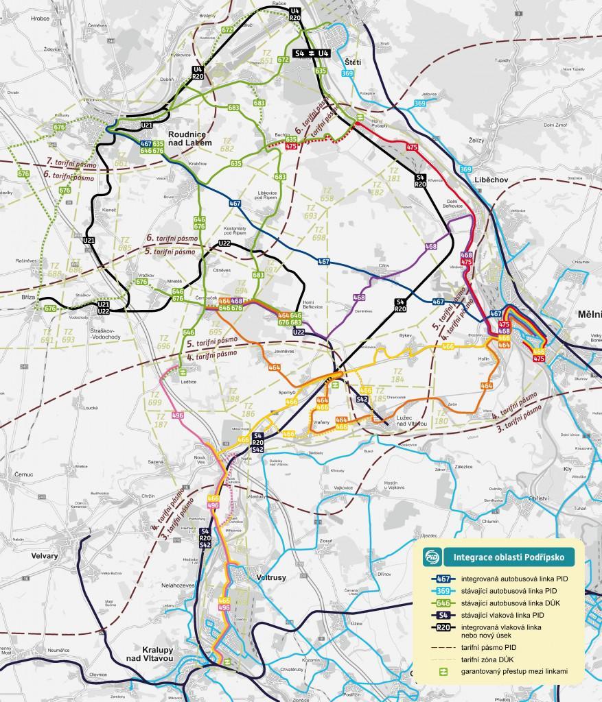 Propojení dopravních systémů v okolí Roudnice
