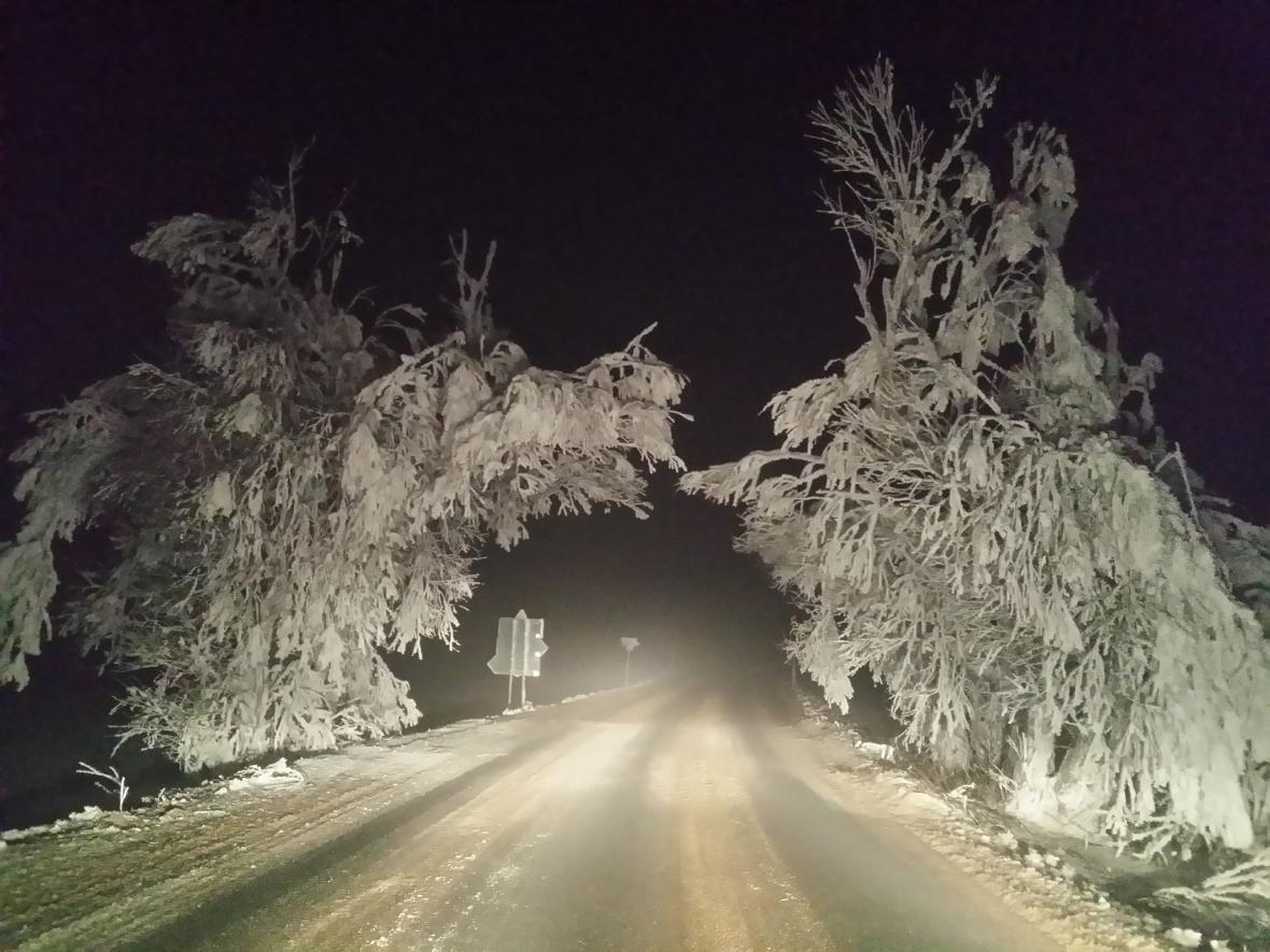 Sníh na jihu Moravy
