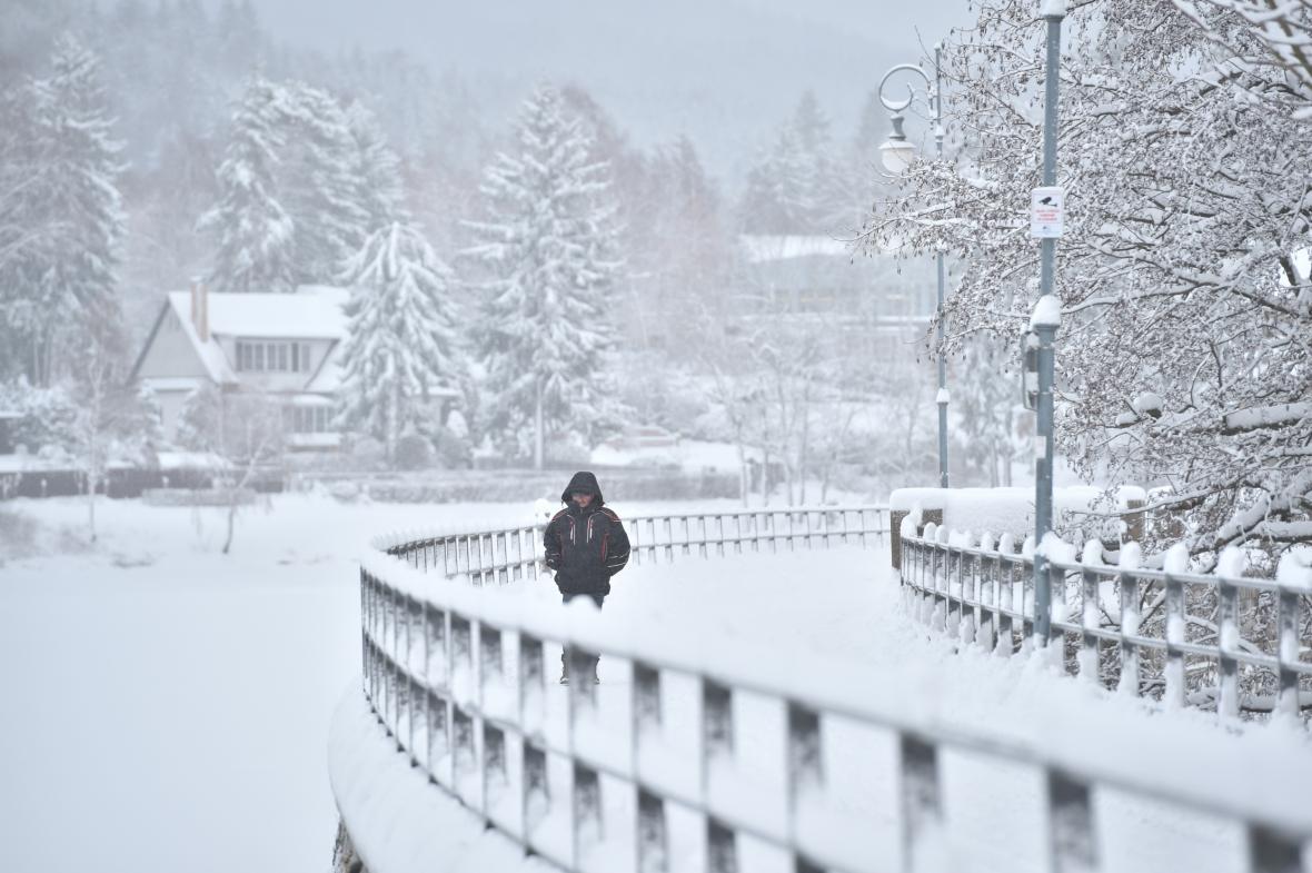 Přívaly sněhu na Liberecku