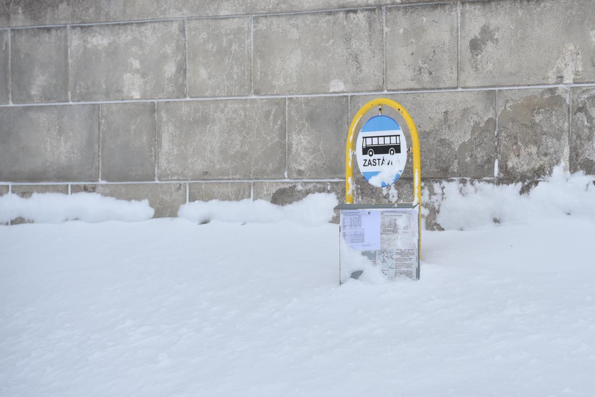 Sněhové závěje na Liberecku