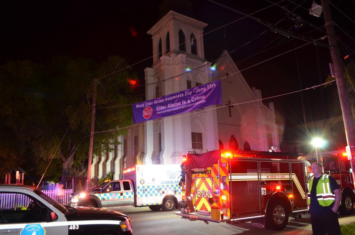 Charlestonský kostel, kde Roof zabil 9 černošských věřících