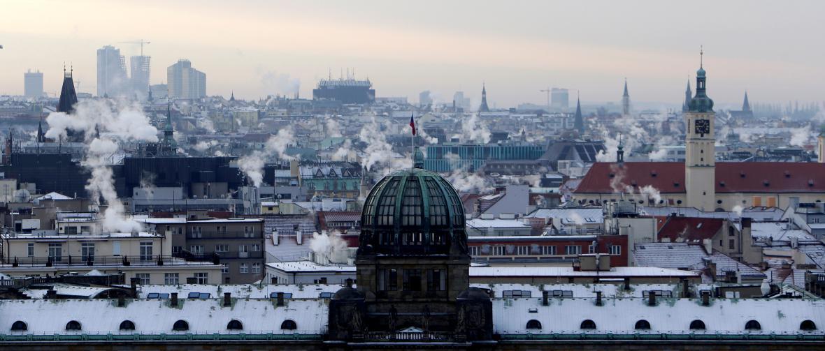 Mrazivé dopoledne v Praze