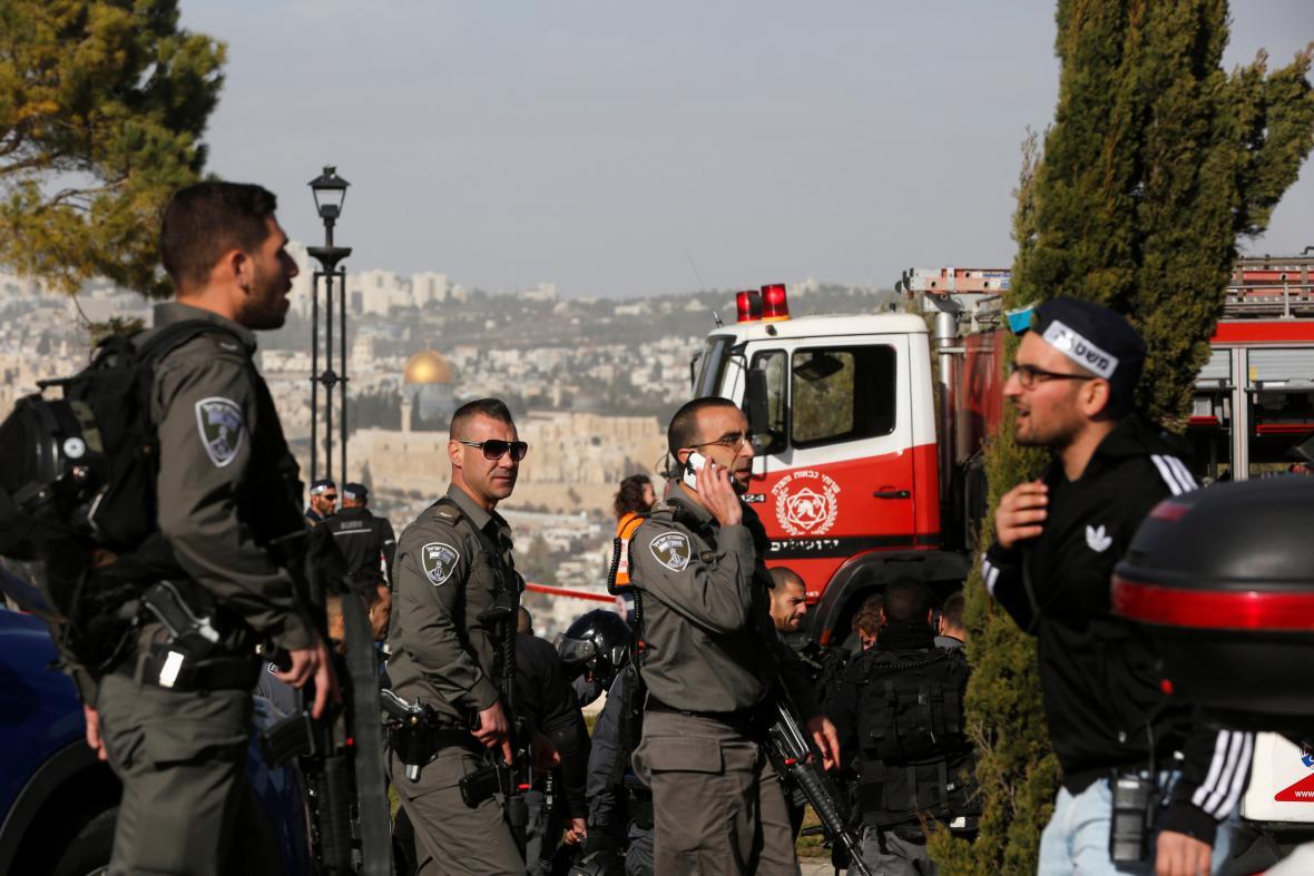 Policie v Jeruzalémě na místě útoku
