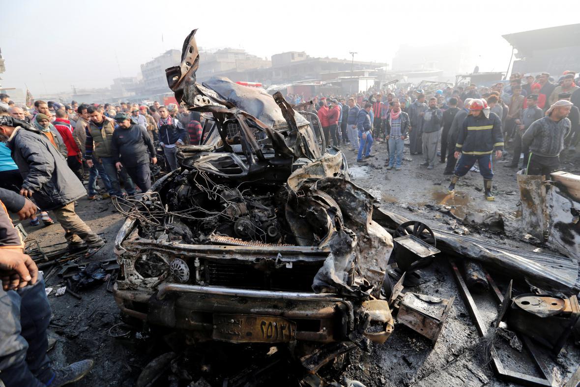 Výbuch na tržišti v Bagdádu