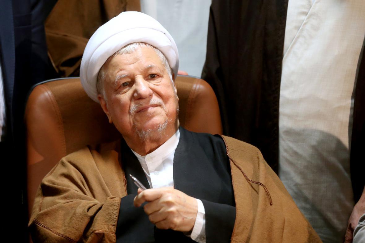 Bývalý íránský prezident Akbar Hášemí Rafsandžání