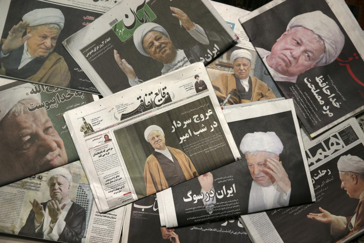 Íránský tisk o úmrtí Rafsandžáního