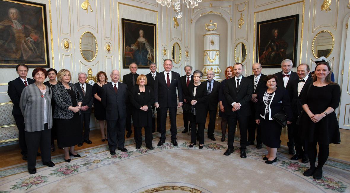Andrej Kiska a vyznamenané osobnosti