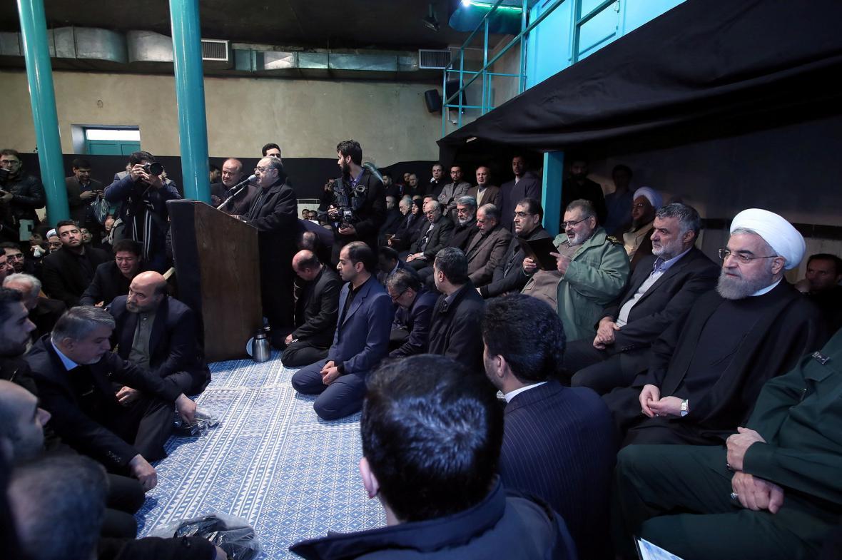Smuteční ceremonie v Teheránu