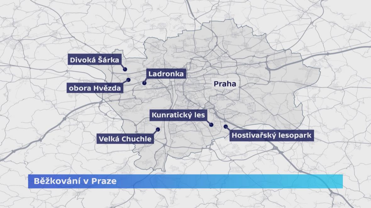 Kam v Praze na běžky