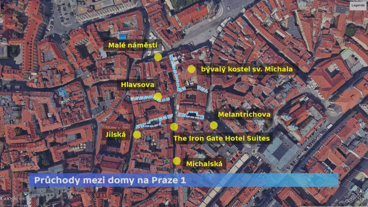 Průchody na Praze 1