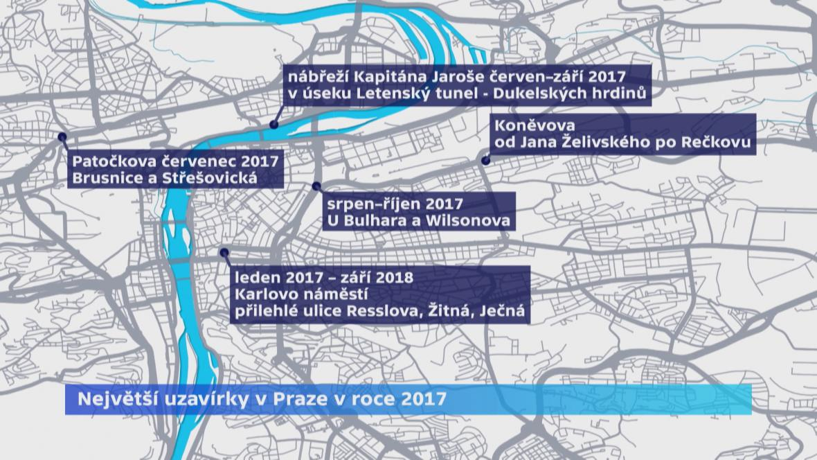Největší letošní uzavírky v Praze