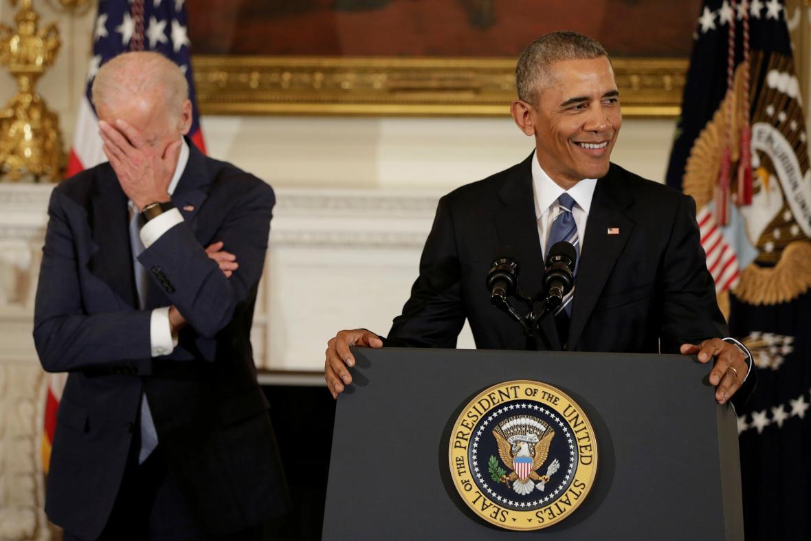 Reakce Joea Bidena na Obamova slova o udělení medaile