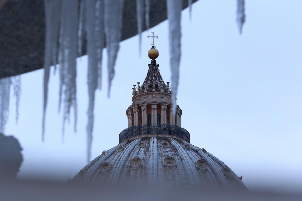 Mrazivé počasí zasáhlo i Řím
