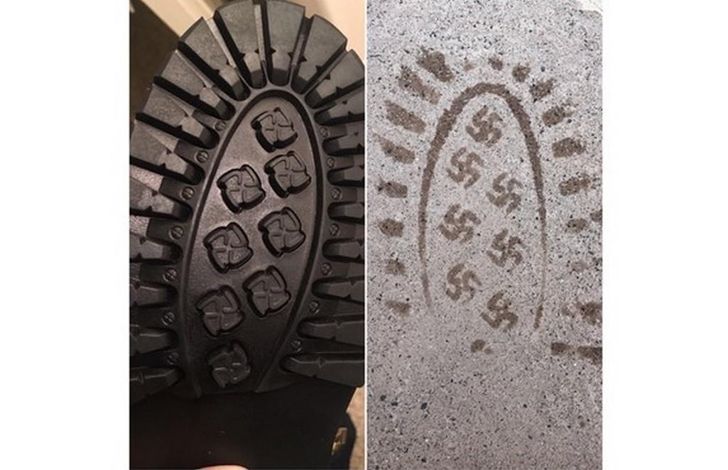 Boty, které dělají hákové kříže