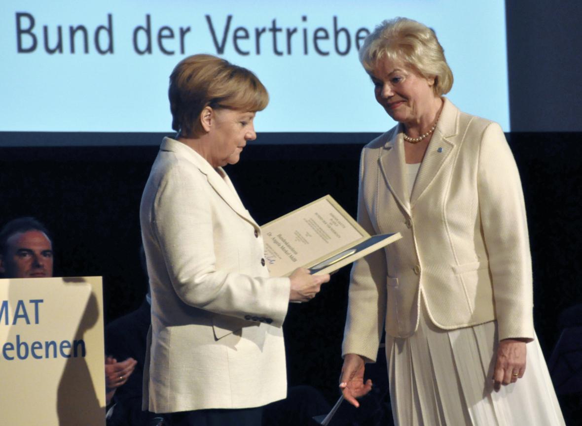 Angela Merkelová s Erikou Steinbachovou