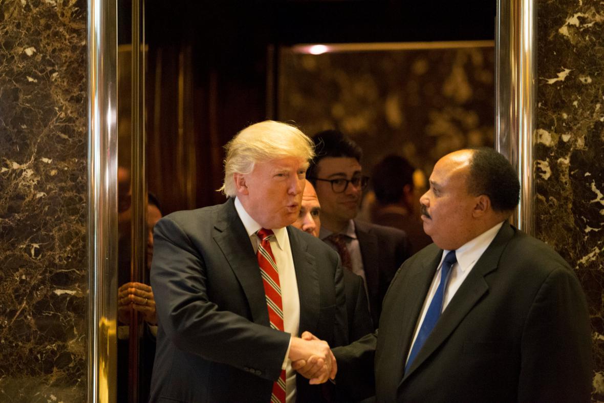 Donald Trump se synem Martina Luthera Kinga