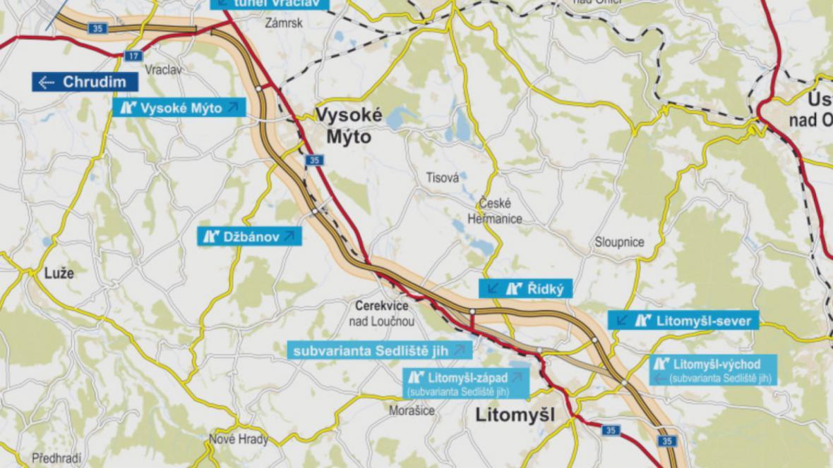 Plánovaná trasa D35