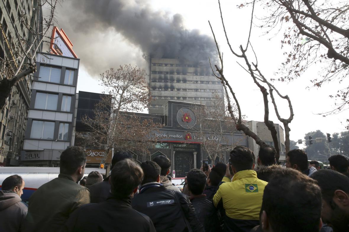 Požár výškové budovy Plasco v Teheránu