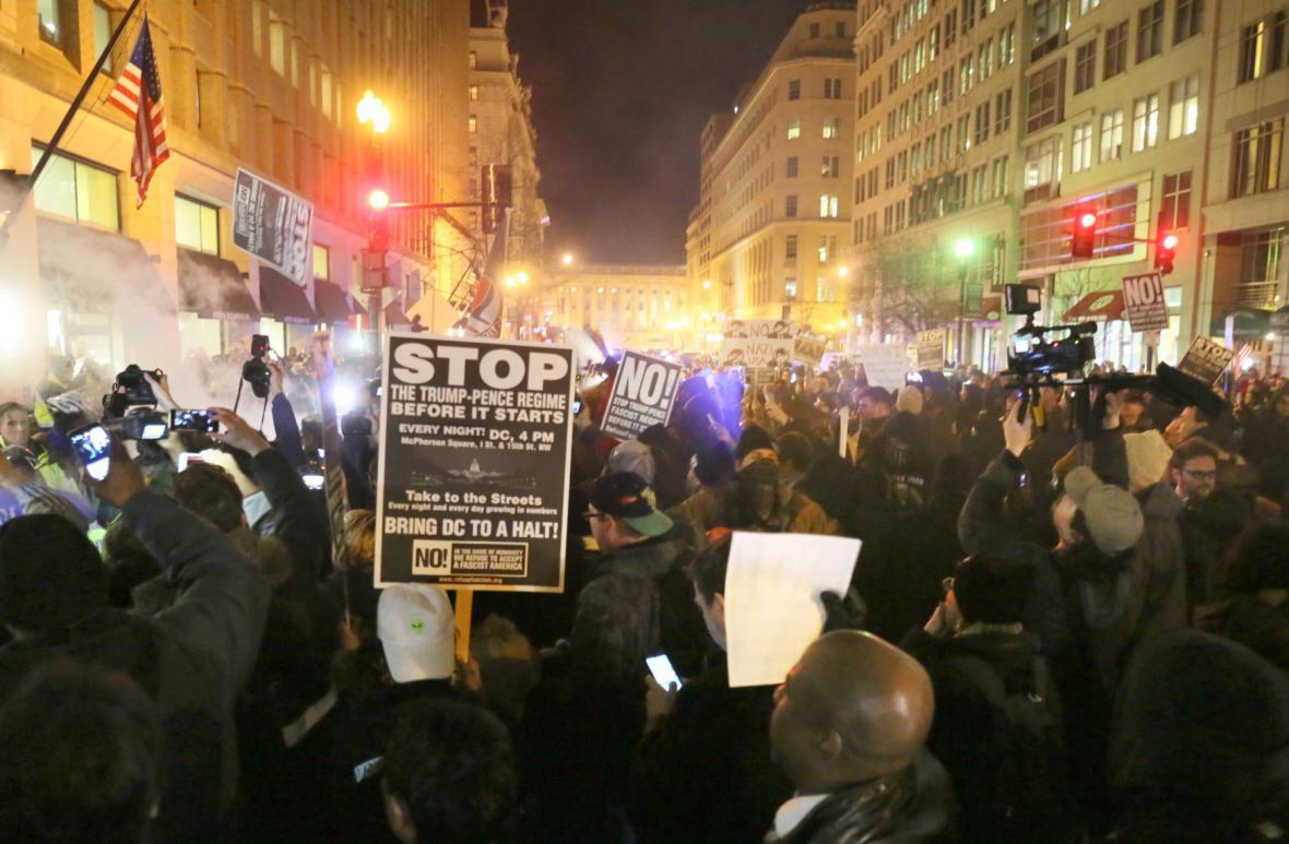 Protest Trumpových odpůrců