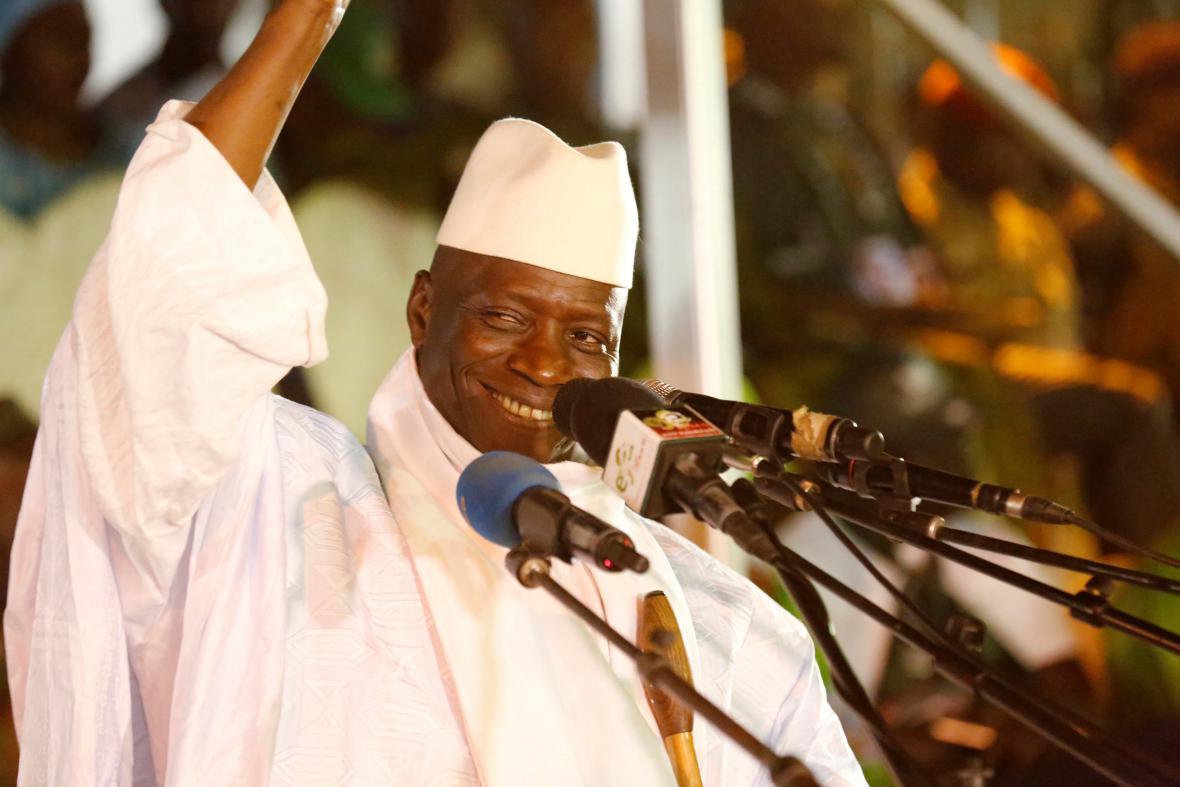 Dosavadní prezident Gambie Yahya Jammeh