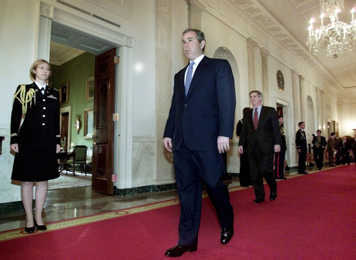 George Bush mladší v prvních dnech svého úřadování