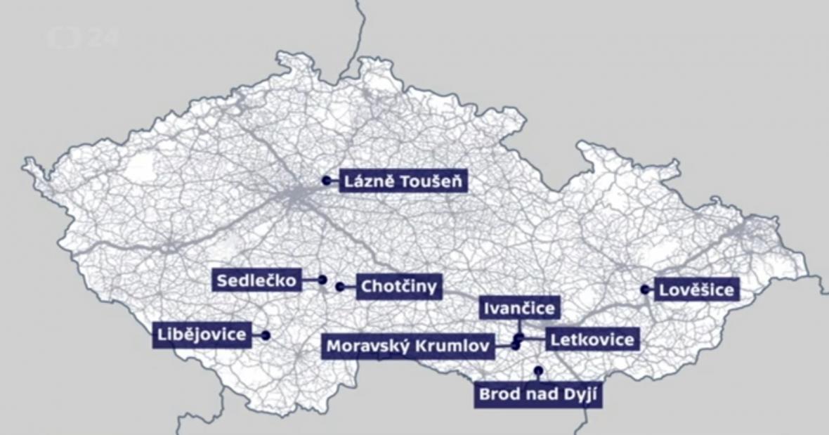 Mapa ohnisek ptačí chřipky