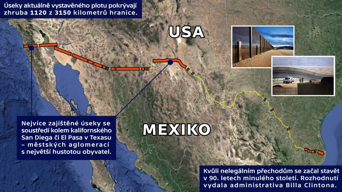 Zábrany na hranicích Mexiko – USA