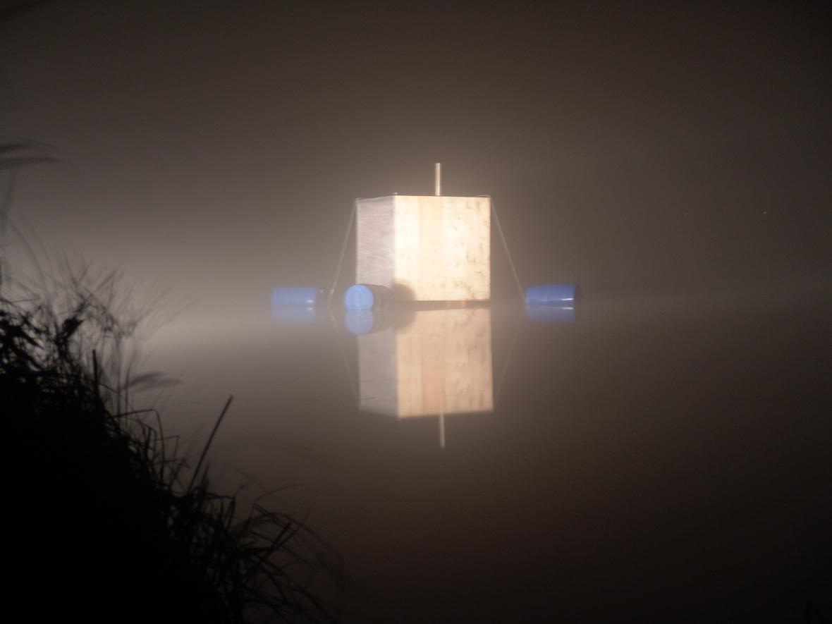 H3T Architekti: Plovoucí sauna