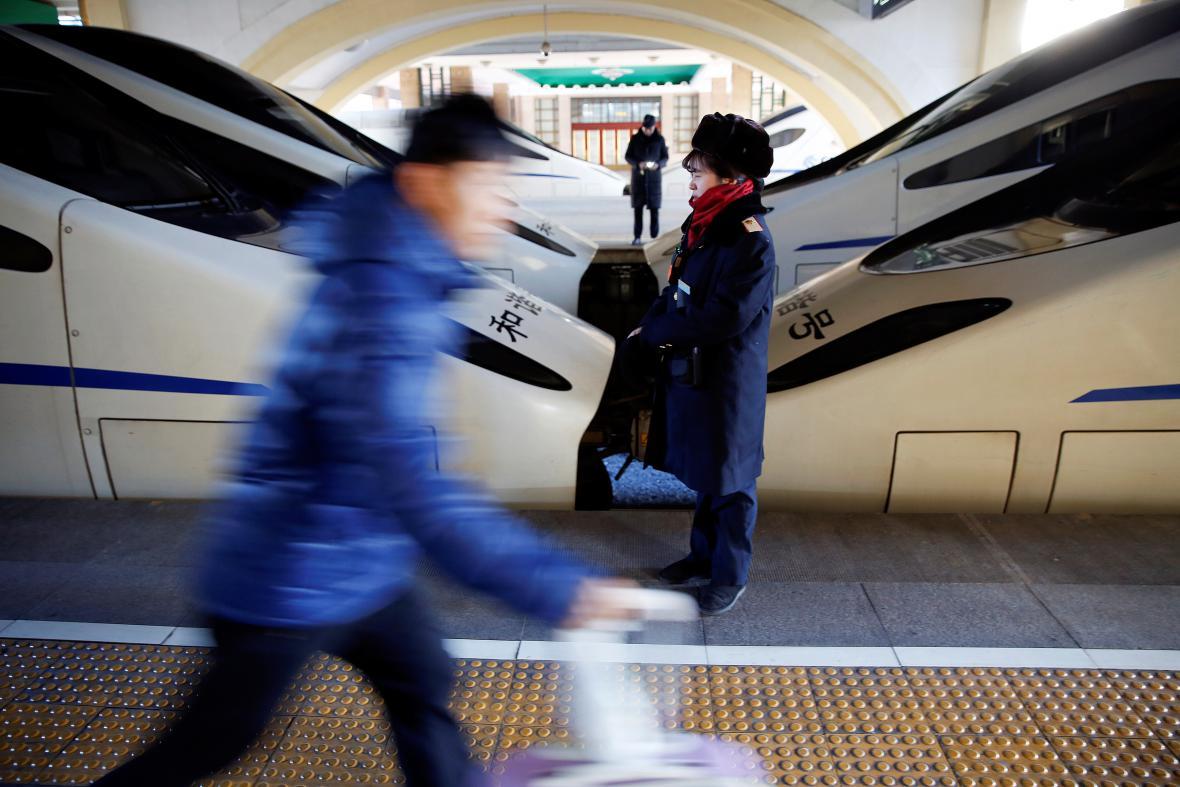 Pohled na pekingské nádraží