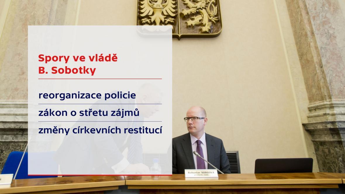 Spory ve vládě B. Sobotky