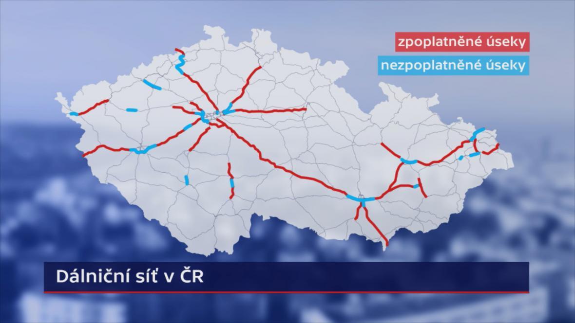 Které úseky dálnic jsou zpoplatněné a které ne