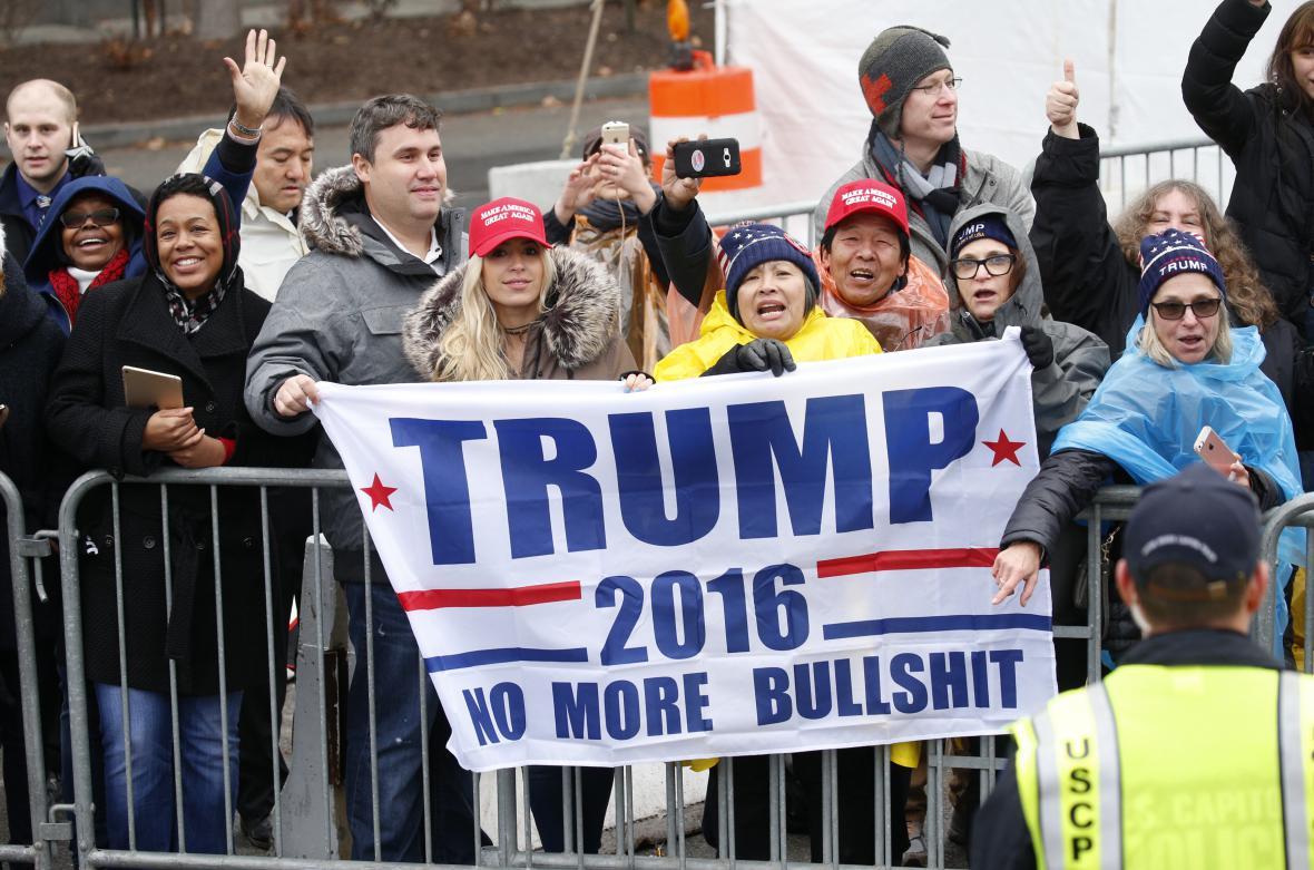 Trumpovi příznivci při prezidentově inauguraci