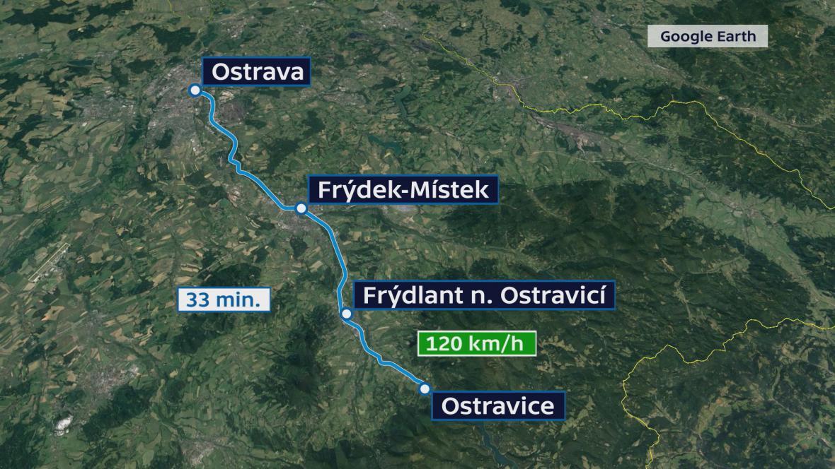 Modernizaci trati z Ostravy-Kunčic do Ostravice na Frýdecko-Místecku