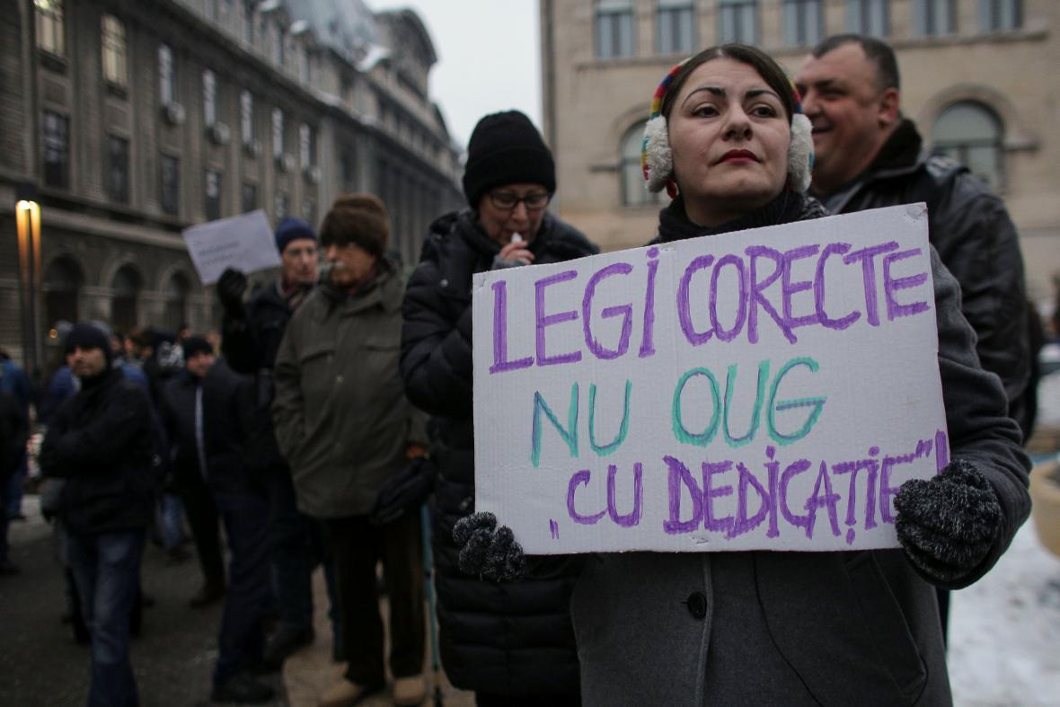 Protivládní protest v Rumunsku