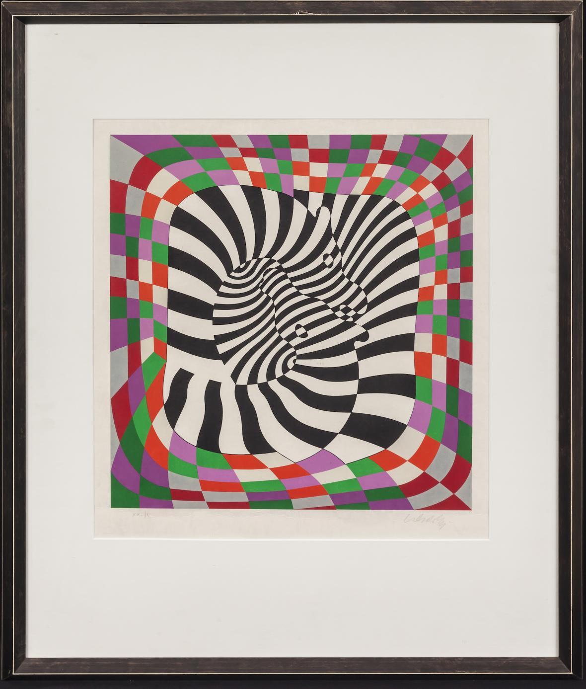 Z výstavy Victora Vasarelyho (Špilberk)