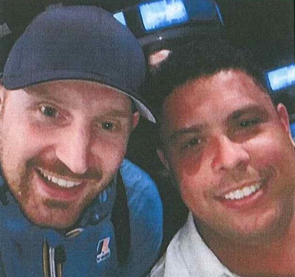 Obviněný muž na snímku s Ronaldem
