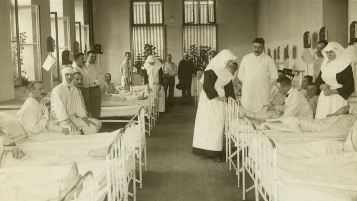 Snímek z třebíčského lazaretu
