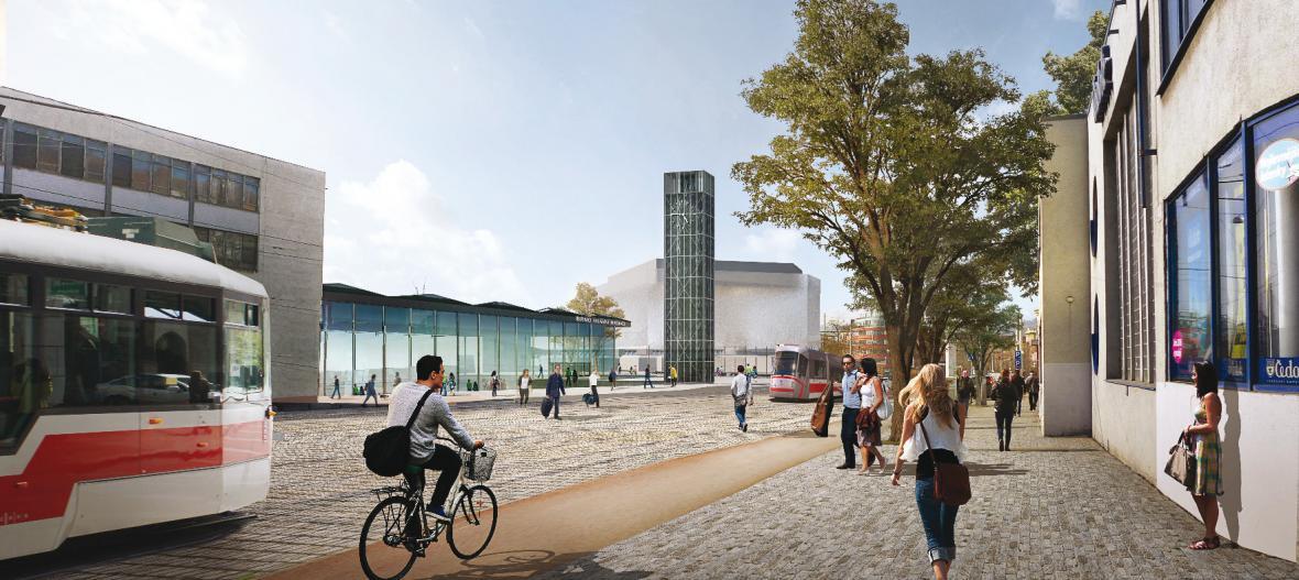 Vítězný návrh pro nové brněnské nádraží v lokalitě pod Petrovem (UNIT architekti)