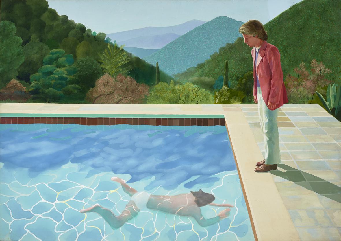 David Hockney / Portét umělce (bazén s dvěma postavami), 1971