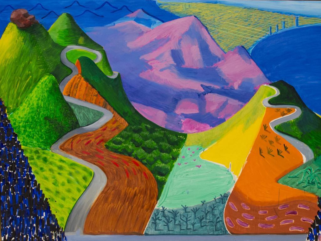 Z výstavy Davida Hockneyho v Tate Britain