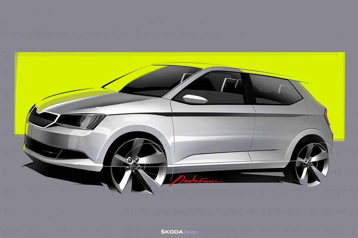 Designová kresba modelu Škoda Fabia