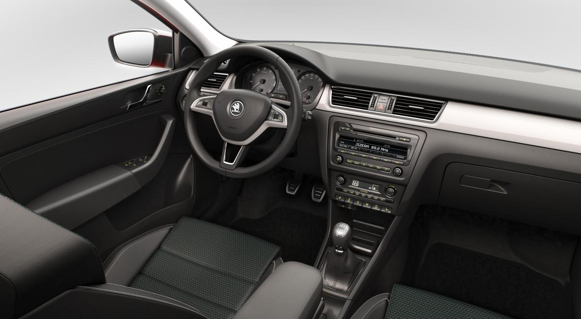Interiér vozu Škoda Rapid Spaceback