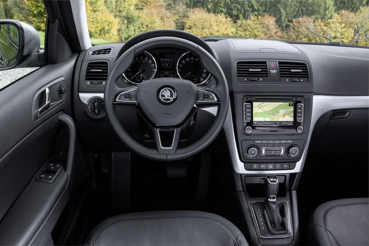 Interiér vozu Škoda Yeti