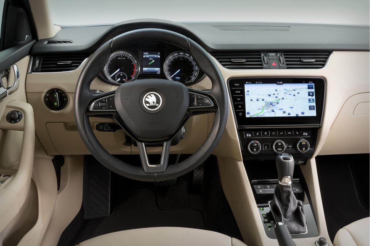 Interiér vozu Škoda Octavia