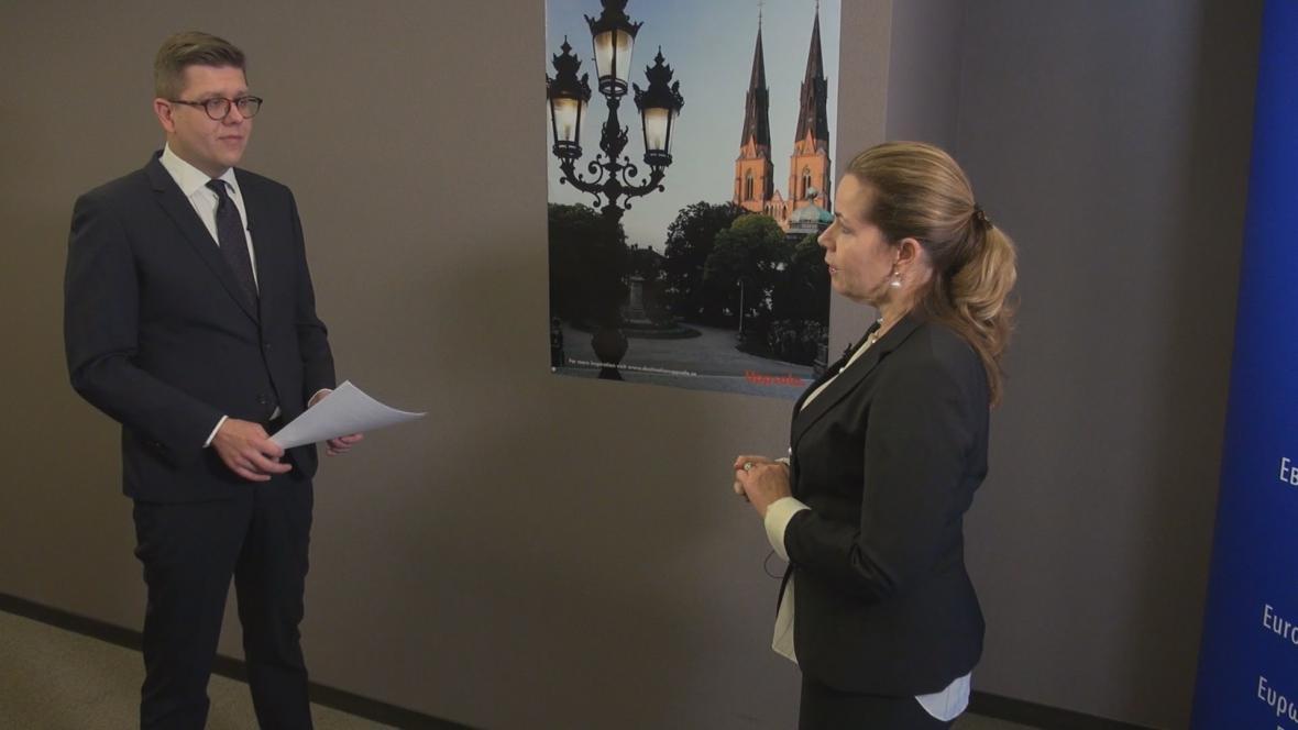Bohumil Vostal a europoslankyně Cecilia Wikströmová