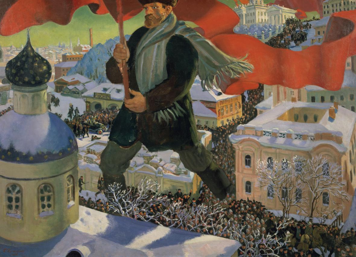 Boris Michajlovič Kustodiev / Bolševik, 1920