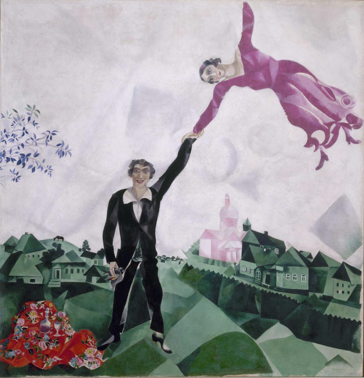 Marc Chagall / Promenáda, 1917-18