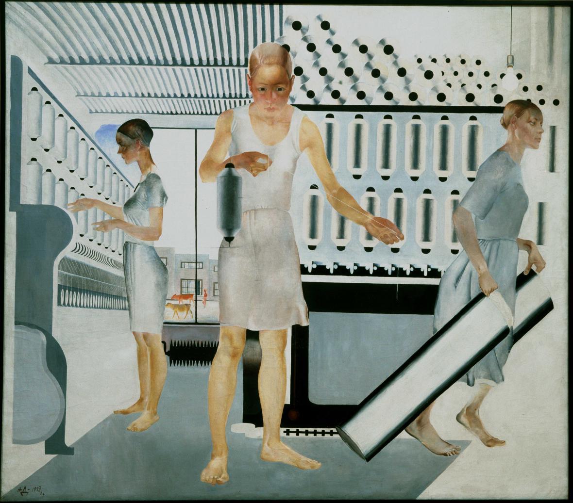 Alexander Deineka / Dělníci v textilce, 1927