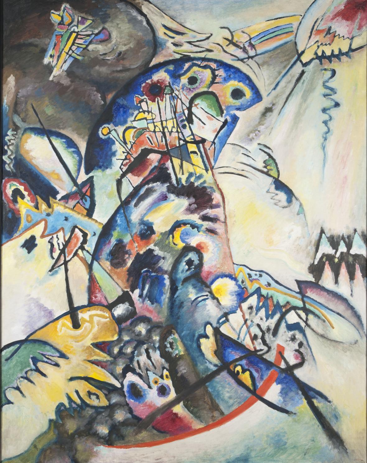 Vasilij Kandinskij / Modrý hřeben, 1917